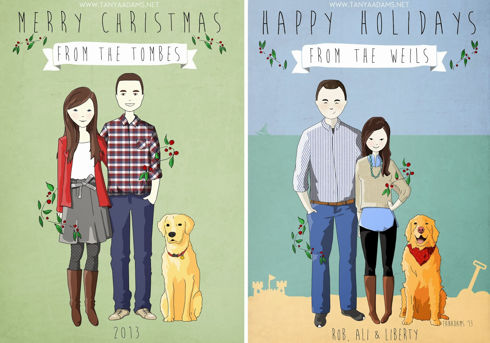 Tanya Adams Illustrations and photography: Custom Christmas Cards