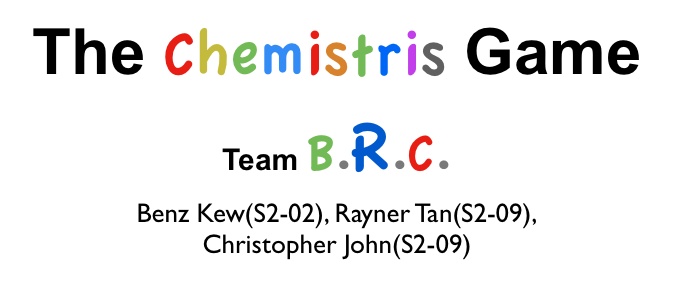 Project 6 The Chemistris Game - Team BRC