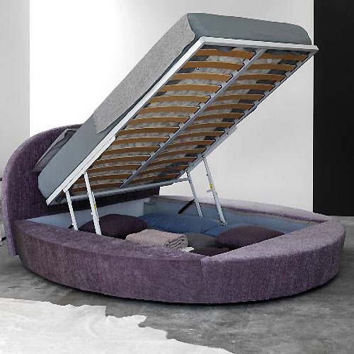 Round Purple Bed Furniture fo Modern Bedroom Design