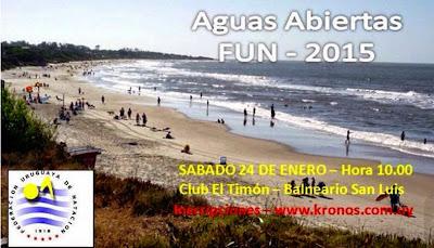 Natación - Travesía en San Luis (24/ene/2015)