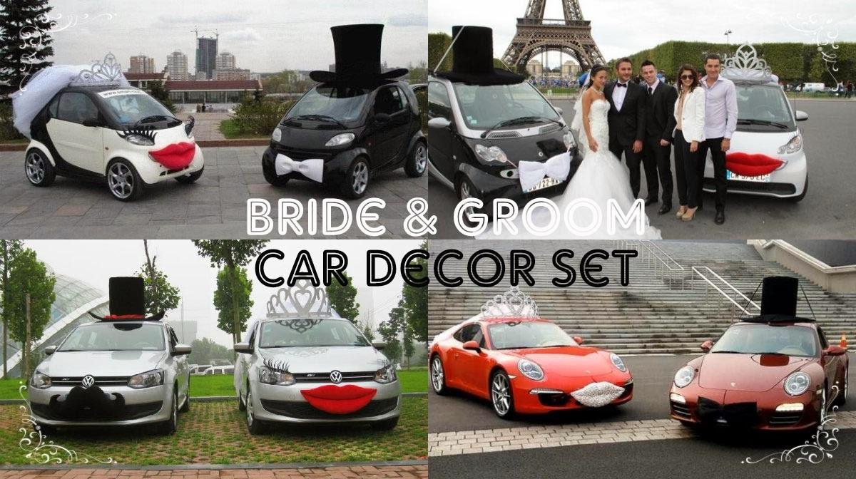 Adora Wedding Accessories Wedding Car Decor Set