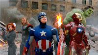 The Avengers - Black Widow, Thor, Captain America, Hawk Eye, Iron Man, Hulk