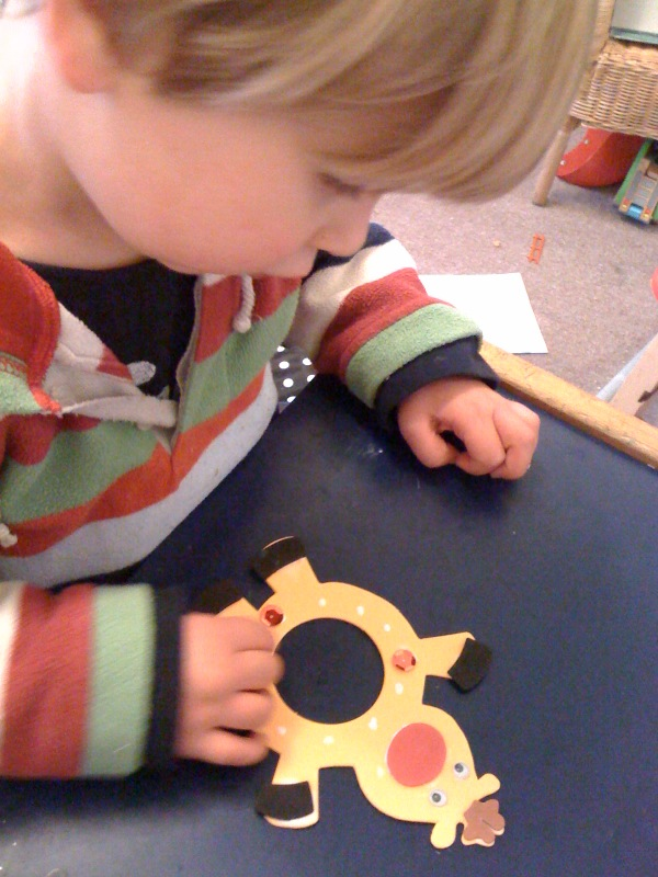 WeAreWildThings Reindeer Photo Frames And Colour Your Own