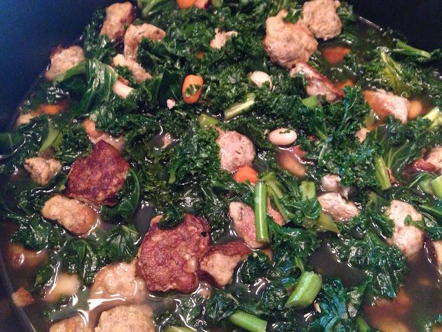 beautybwb Turkey Meatball and Kale Soup