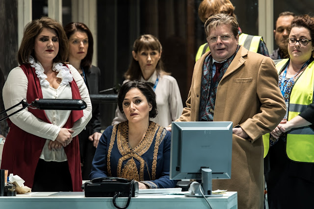 ENO Lady Macbeth of Mtsensk, Rosie Aldridge, Patricia Racette, Peter Hoare (c) Clive Barda