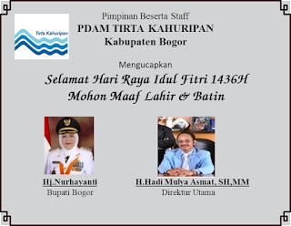Ucapan Selamat Hari Raya Idul Fitri 1436H Perusahaaan, UPT dan Desa di Kab.Bogor