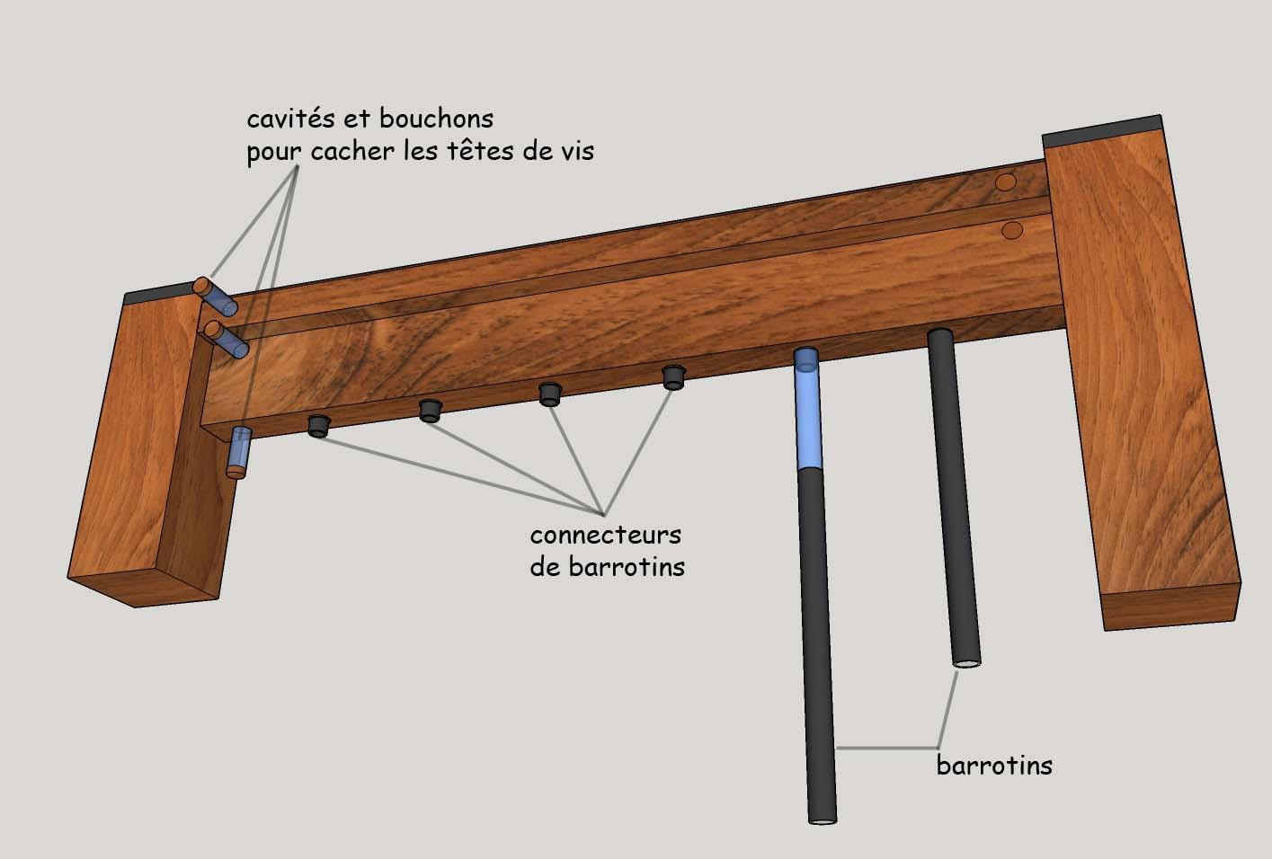 Fixation Garde Corps Bois - LA VARLOPE Fixations invisibles pour garde corps de patio en bois