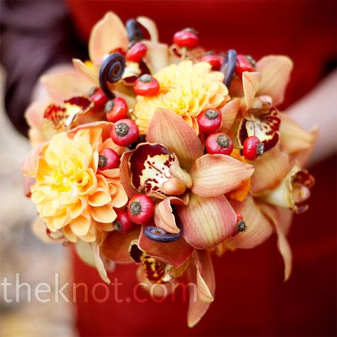 Something Pink Girls Fall Wedding Flowers