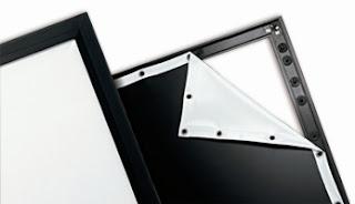 pantalla de proyección de marco fijo