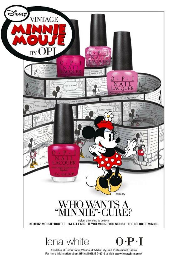 Yonomeaburro: El esmalte de uñas de Minnie Mouse para OPI: ¿Quién ...