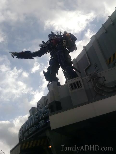 Universal Studios Florida Family Travel Guide Transformers 3D
