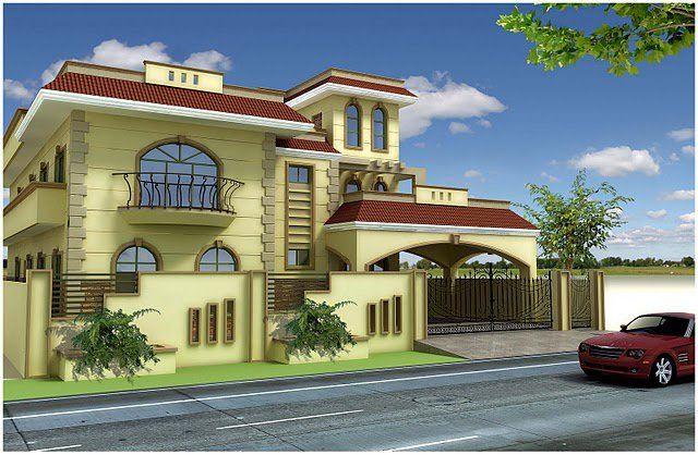 3D Front Elevation.com House Plan Design, Creative Design Contemporary ...