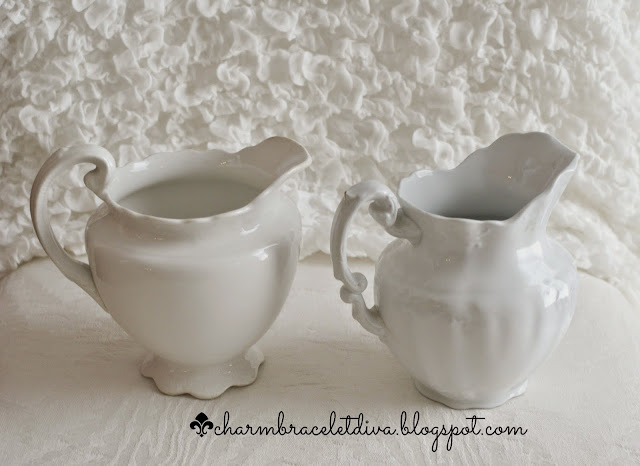 Vintage Warwick and Johnson Bros. ironstone pitchers