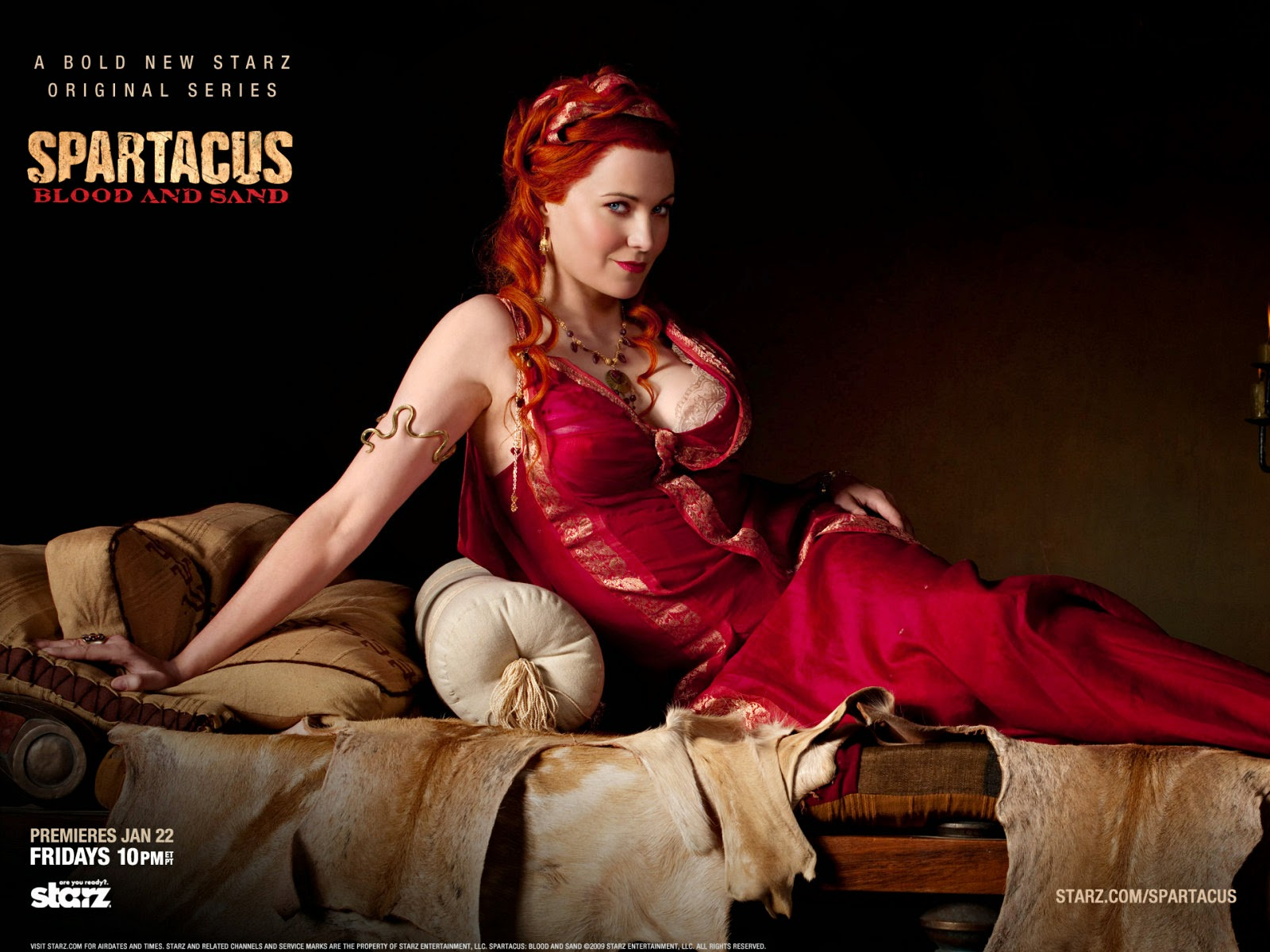 Lucy Lawless en en lucretia dans spartacus