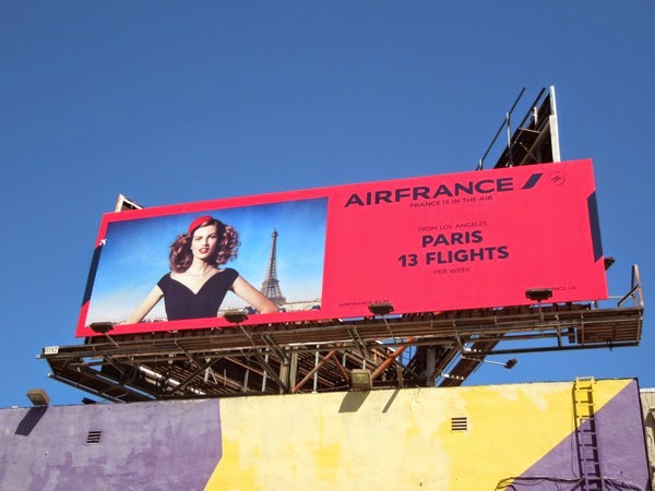 Air France Paris 13 flights billboard