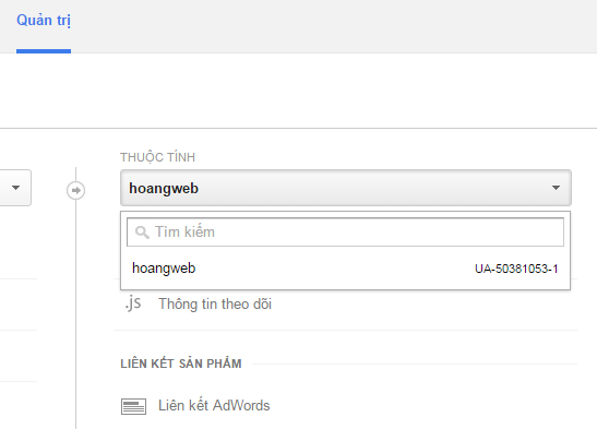 Thêm website vào Google Analytics