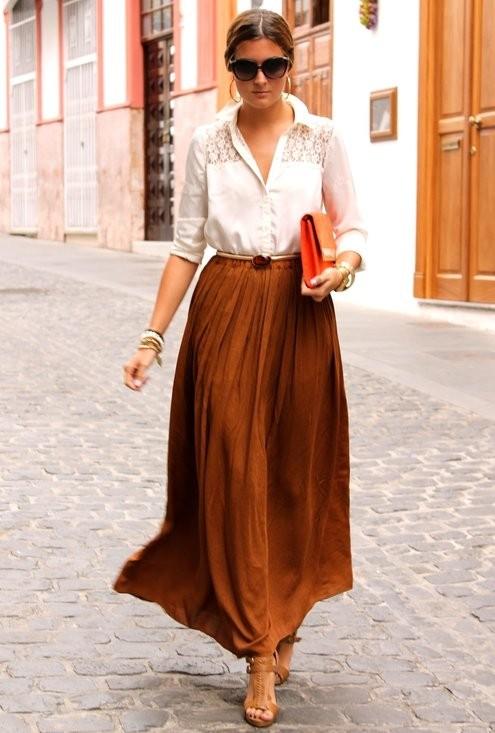 Maxi Skirt on Real Women