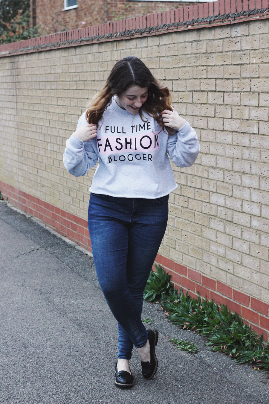 river island full time fashion blogger sweatshirt