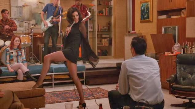 Megan Draper sings Zou Bisou Bisou for Don Draper
