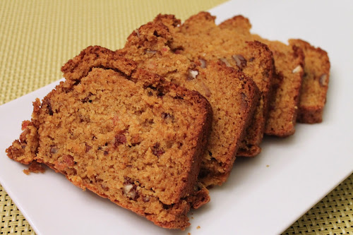 Butternut Squash, Pecan and Bacon Bread