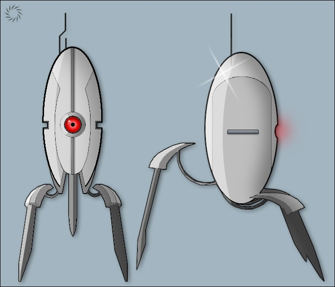 how to build a lego portal turret