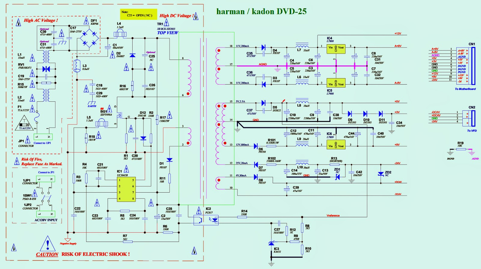 forum diagram harman kardon dvd 25 smps schematic wiring diagram smps schematic click on the pictures to zoom in