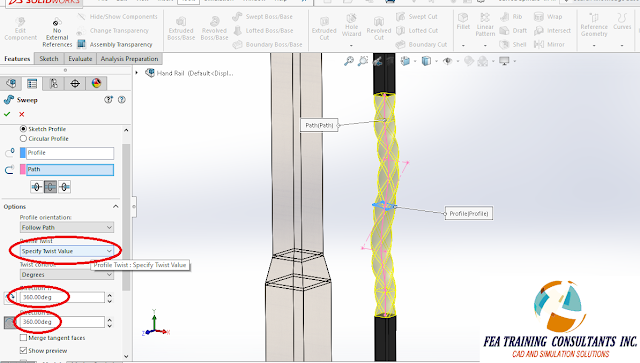 sweep features solidworks 2016