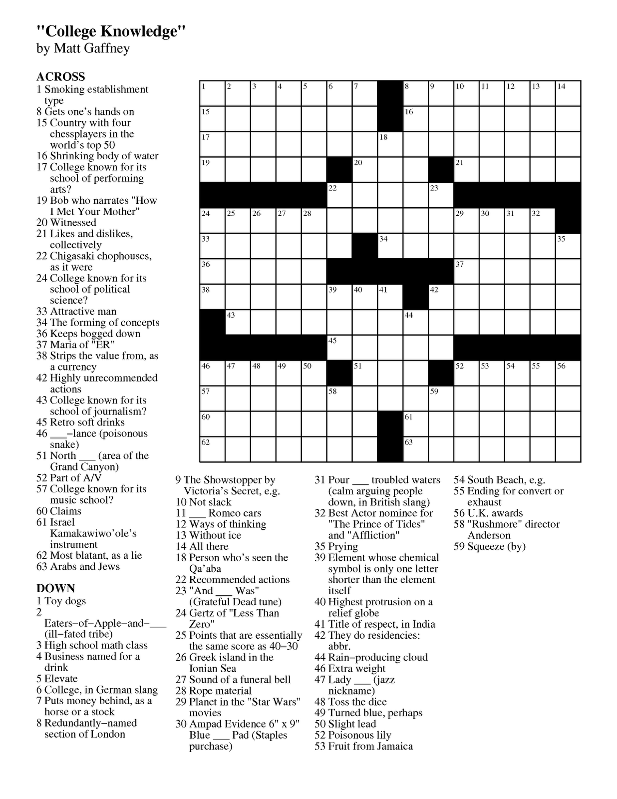 Candid image inside printable chicago tribune crossword