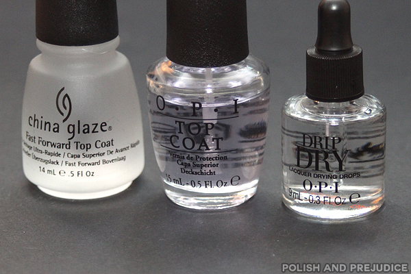 Wear Test OPI Top Coat And Drip Dry Vs China Glaze Fast Forward