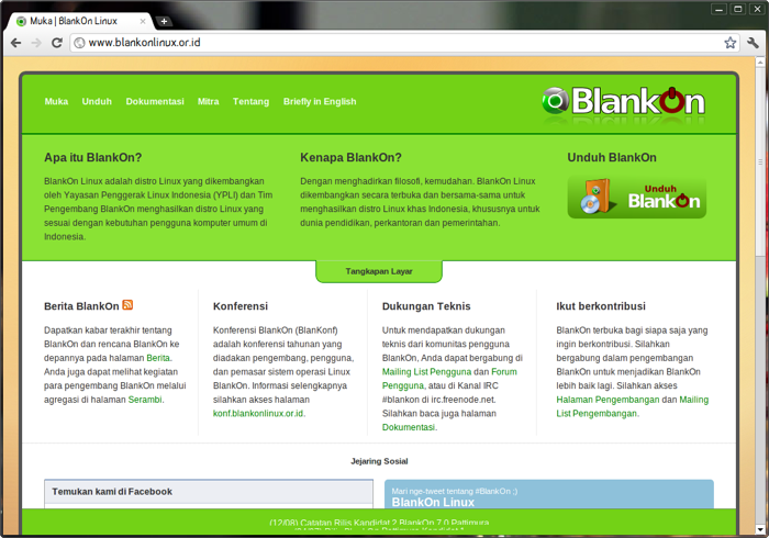 Web browser Chromium di BlankOn Pattimura