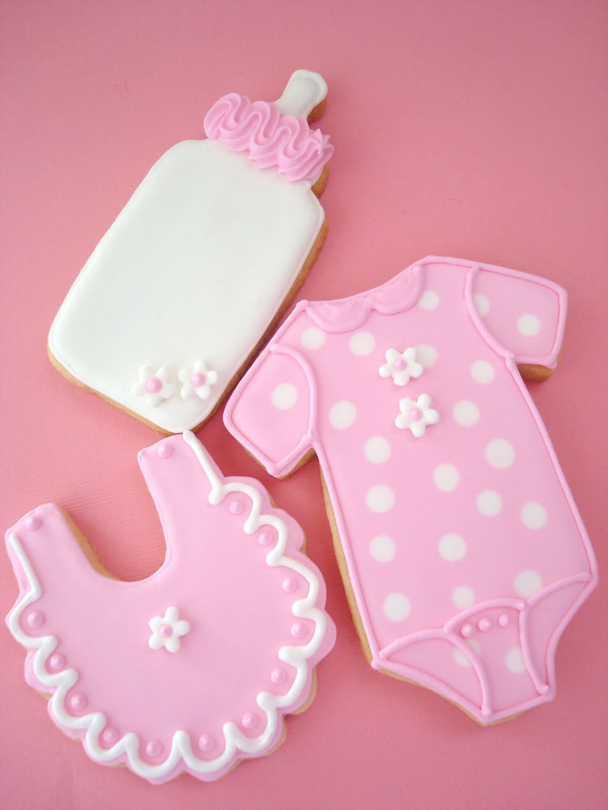 My Pink Little Cake It s a Girl Baby Shower Cookies