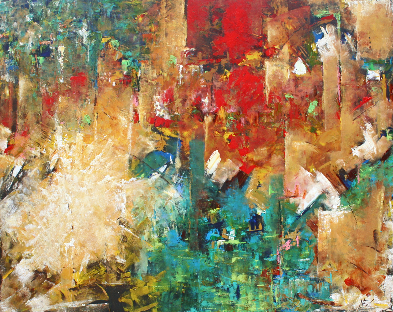 Elizabeth chapman amira contemporary expressionistic for Contemporary mural artists