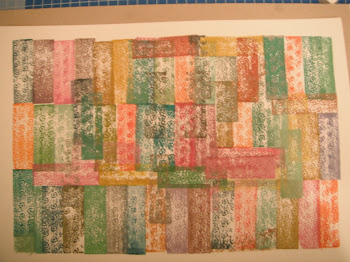 Block printing in muted colours