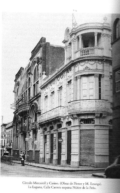Recuerdos del pasado el edificio del antiguo circulo mercantil y posteriormente casino de la - Oficina de empleo la laguna ...