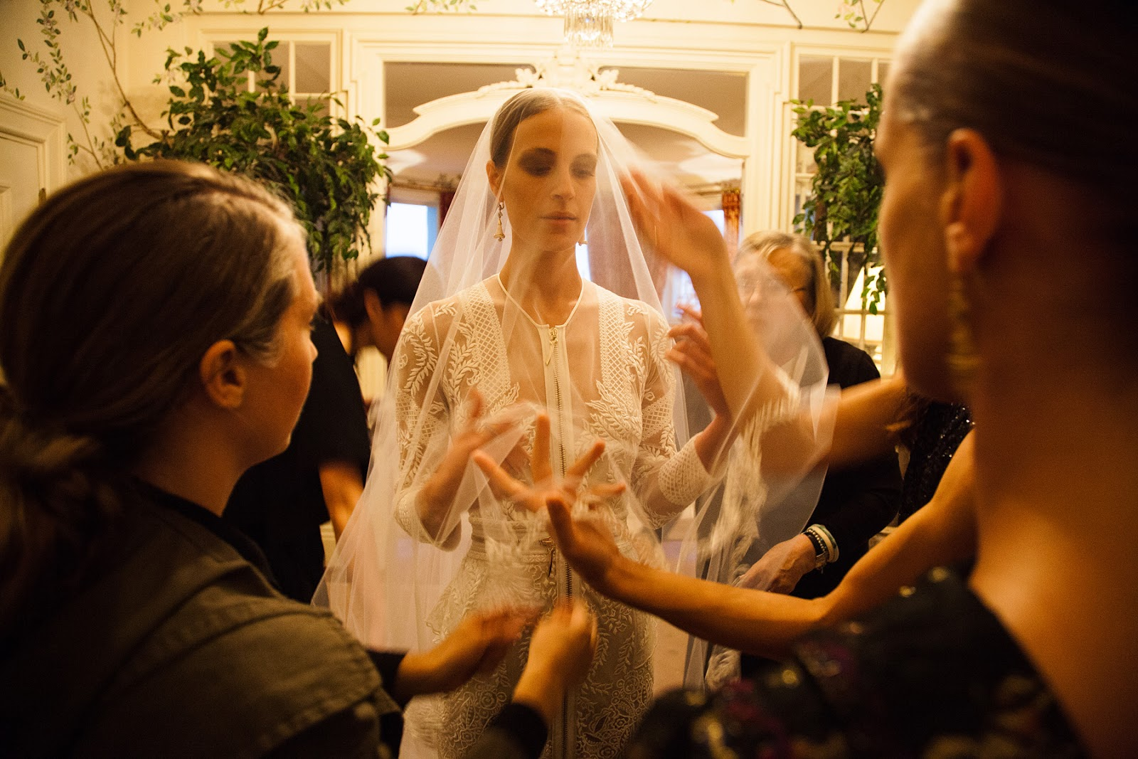 Riccardo tisci made the bride s dress which was inspired by the