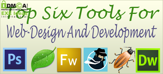 Top Six Tools For Web-Design And Development