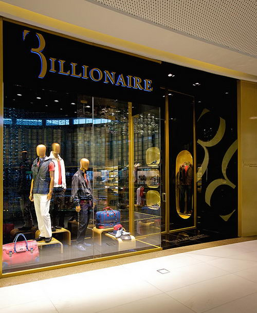 Billionaire the Italian Fashion Stores Shopfront Design