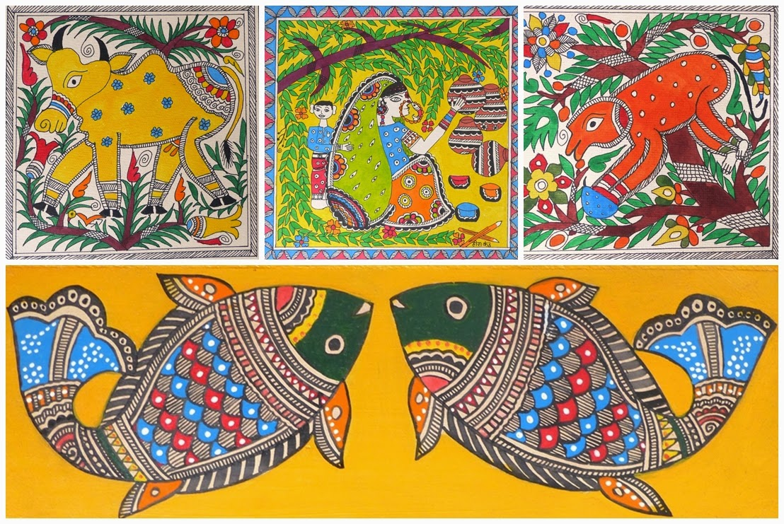 Indian Madhubani paintings
