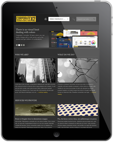Tablet-Preview-of-Corporate-X-Multipurpose-Best-Drupal-7-Theme