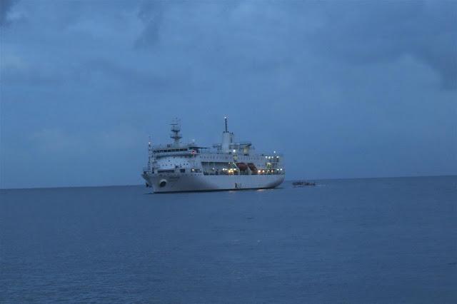 M.V. Kavaretti in the middle of the sea