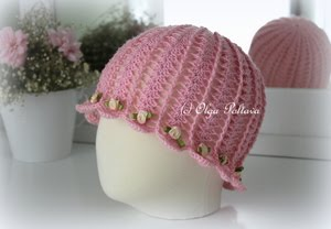 Cloche Spring Summer Hat Pattern, Size 3-5 Years Old, $3.25