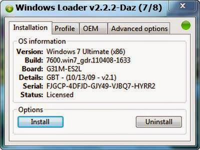 Windows Loader v2.2.2 Free Download - very best activation for windows 7
