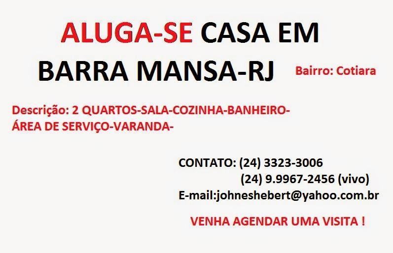 ALUGA-SE EM BARRA MANSA-RJ