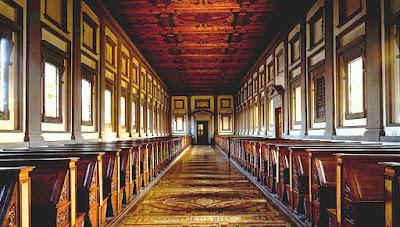 La Biblioteca Medicea Laurenziana in Florence