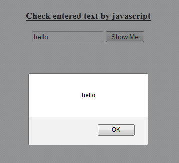 use alert and display textbox value by javascript