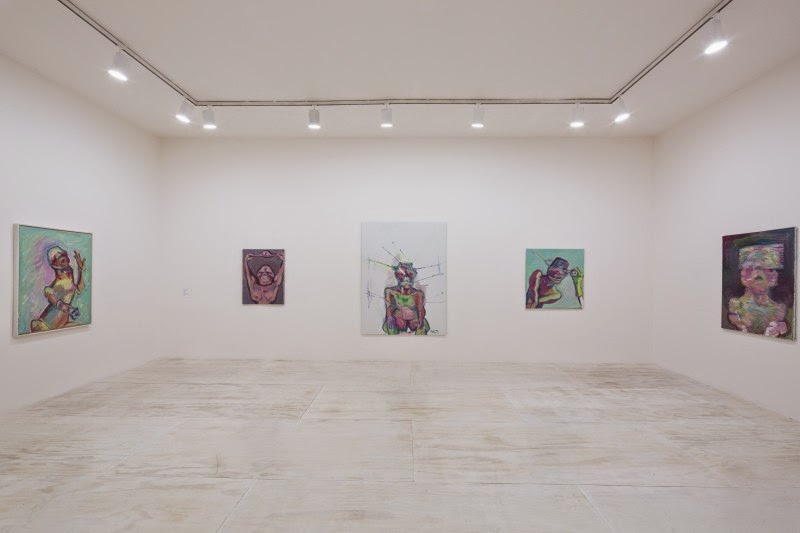 Installation view of Maria Lassnig at MoMA PS1, 2014. © 2014 MoMA PS1; Photo Matthew Septimus.
