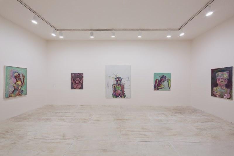 Installation view of Maria Lassnig at MoMA PS1, 2014. © 2014 MoMA PS1; Photo Matthew Septimus.