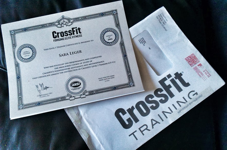 Coach Mighty Mouse: CROSSFIT FOR ALL (level 1 trainer cert arrived)