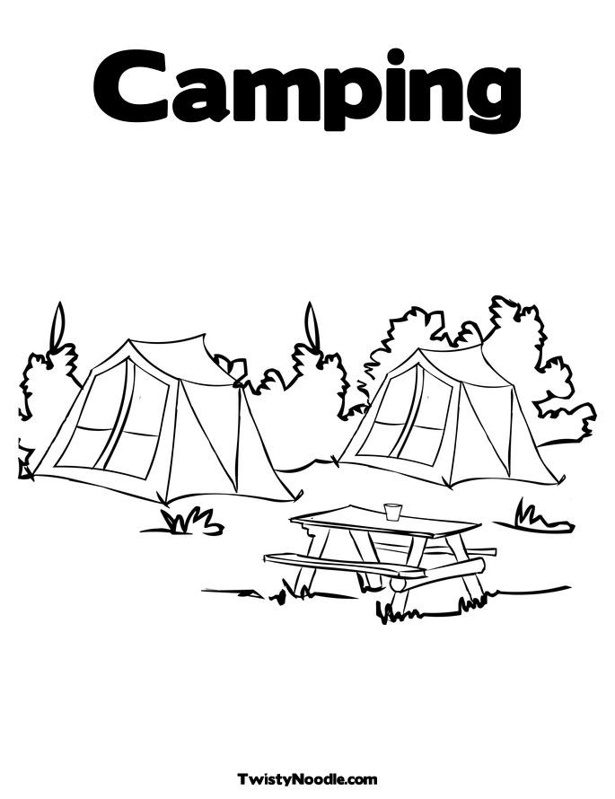 camping coloring pages free - photo#15