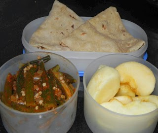 Indian healthy lunch box recipes delicious healthy home made chapathi with bhindi fry forumfinder Images